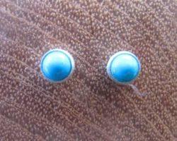 exclusieve zilveren oorstekers turkoois 100