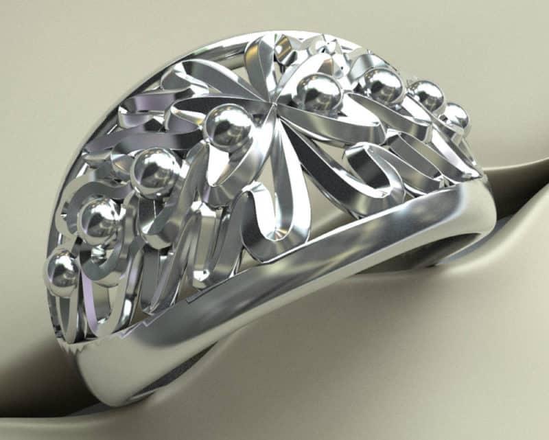 zilveren ring eikenbladeren-web